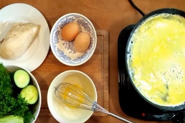 напечь яичные блины