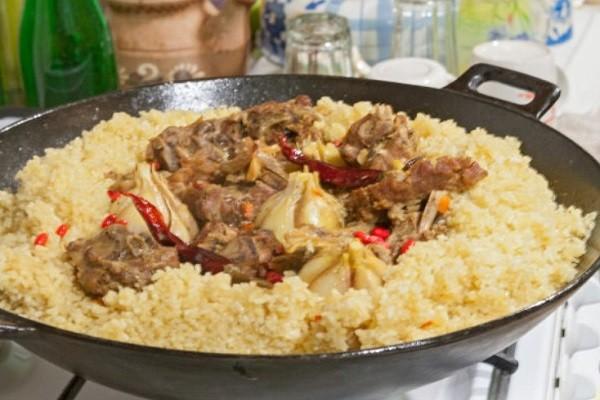 положить мясо в рисовый купил