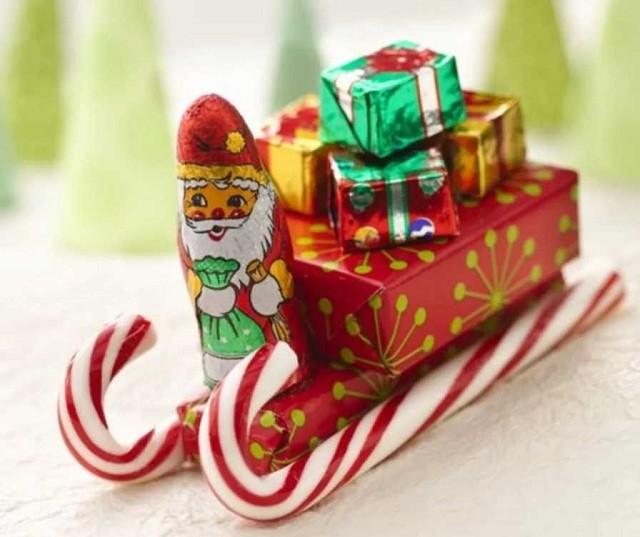 Сладкие сани Деда Мороза
