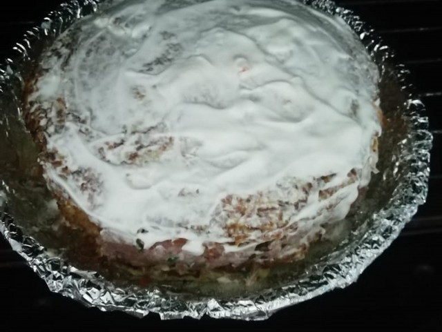 ставим пирог в духовку